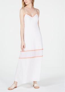 Line & Dot Randi Embroidered-Trim Open-Back Dress
