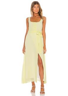 Line & Dot Ray Midi Dress