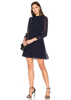 Line & Dot Renee Babydoll Dress in Navy. - size M (also in S,XS)