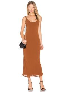 Line & Dot Rima Bias Maxi Dress