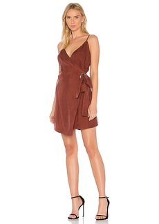 Line & Dot Rue Wrap Dress In Rust in Rust. - size M (also in S,XS,L)