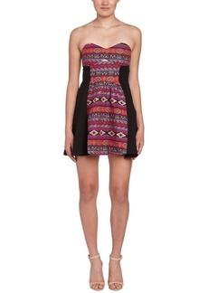 Line & Dot Textile Sweetheart Dress