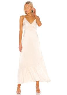 Line & Dot Wrap Dress
