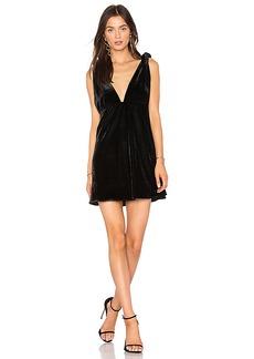 Line & Dot x REVOLVE Tied Mini Dress in Black. - size S (also in L,M,XS)