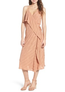Line & Dot Yoanna Ruffle Trim Wrap Dress