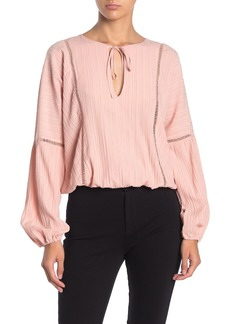 Line & Dot Michelle Draped Blouse
