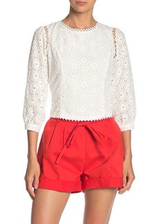 Line & Dot Mona Eyelet Lace Top