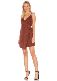 Rue Wrap Dress In Rust