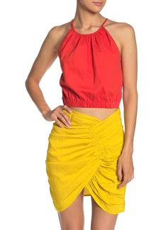 Line & Dot Sunbeams Cropped Halter Top