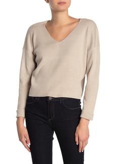 Line & Dot Vivi Cropped V-Neck Sweater