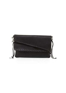 Linea Pelle Whipstitch-Trim Faux-Leather Crossbody Bag