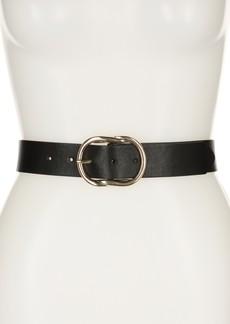 Linea Pelle Metal Knot Buckle Belt