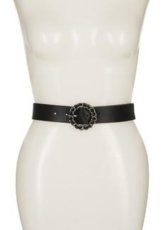 Linea Pelle Woven Chain Buckle Belt