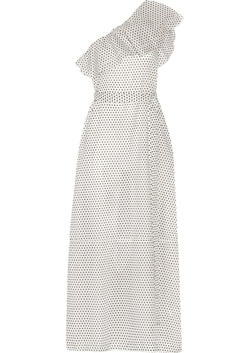 cd784639fb Lisa Marie Fernandez Arden one-shoulder polka-dot cotton-voile maxi dress