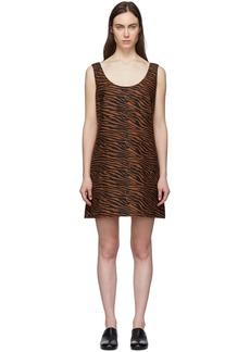 Lisa Marie Fernandez Brown & Black Zani Mini Dress