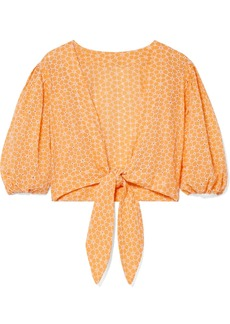 Lisa Marie Fernandez Cropped Broderie Anglaise Cotton Top