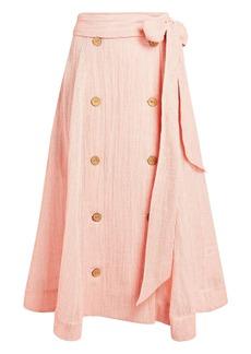 Lisa Marie Fernandez Diana Wrap Midi Skirt