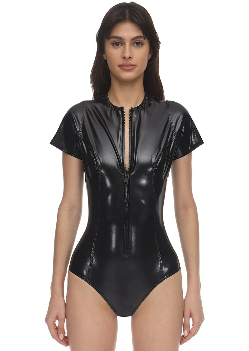 Lisa Marie Fernandez Farrah Short Sleeved Nylon Swimsuit