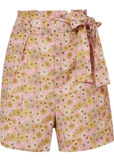 Lisa Marie Fernandez Floral-print Linen Shorts