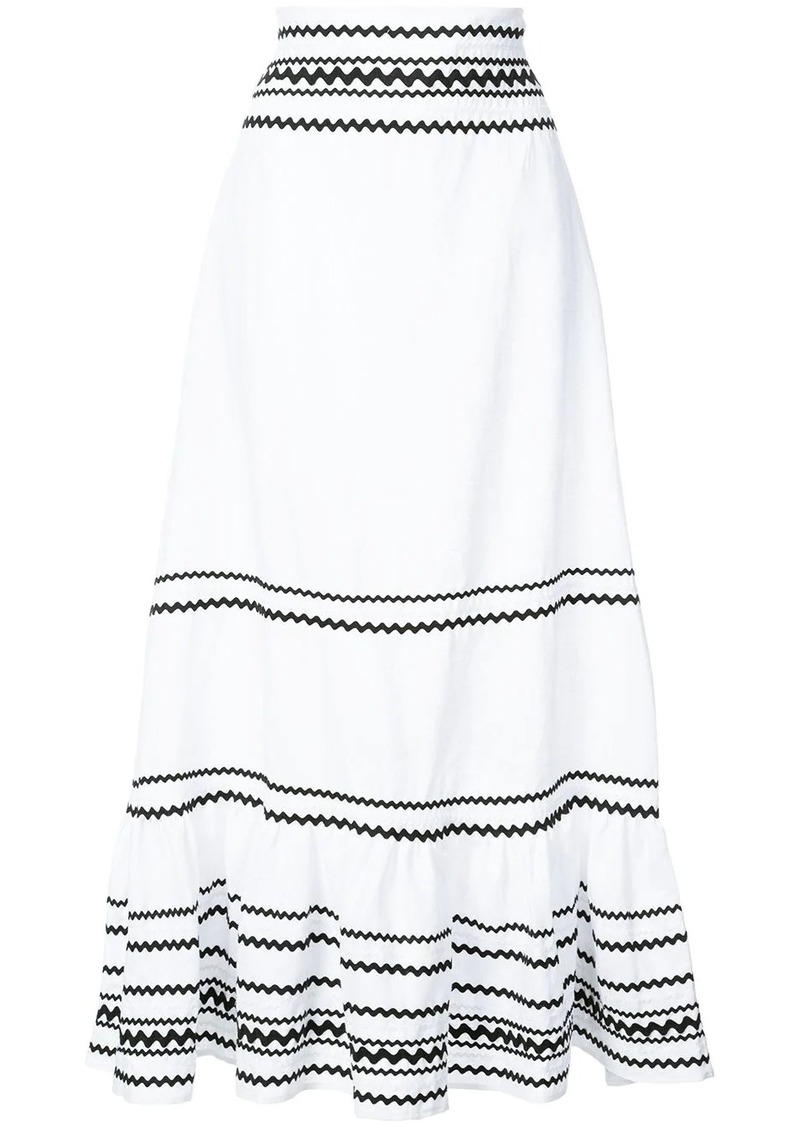 Lisa Marie Fernandez full-length stripe skirt