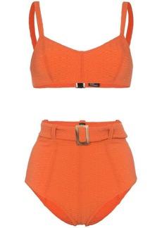 Lisa Marie Fernandez Genevieve belted high waisted bikini set