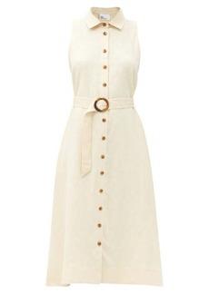 Lisa Marie Fernandez Alison belted linen shirt dress