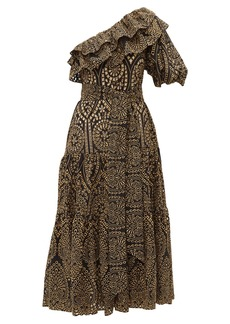 Lisa Marie Fernandez Arden eyelet-embroidered cotton dress