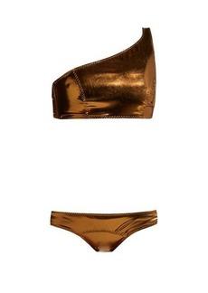 Lisa Marie Fernandez Arden metallic bikini