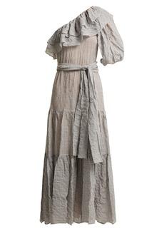 Lisa Marie Fernandez Arden ruffle-trim cotton-blend dress