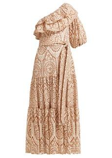 Lisa Marie Fernandez Arden ruffled one-shoulder cotton dress