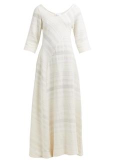 Lisa Marie Fernandez Bias-cut cotton maxi dress