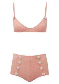 Lisa Marie Fernandez Button Two-Piece Bikini