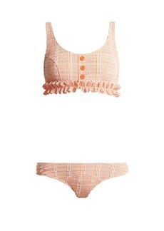 Lisa Marie Fernandez Colby ruffled gingham bikini