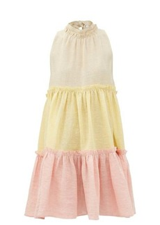Lisa Marie Fernandez Erica tiered linen-blend dress