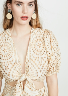 Lisa Marie Fernandez Eyelet Tie Blouse