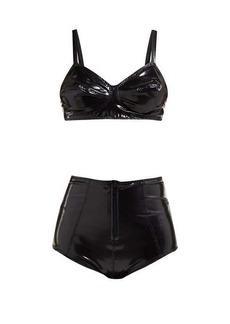 Lisa Marie Fernandez Goldwyn Conical PVC bikini