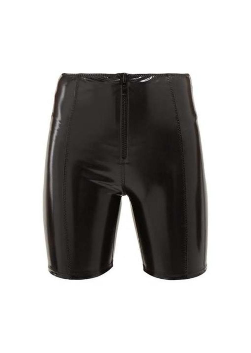 Lisa Marie Fernandez High-rise cycling PVC shorts