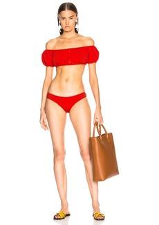 Lisa Marie Fernandez Leandra Seersucker Bikini Set