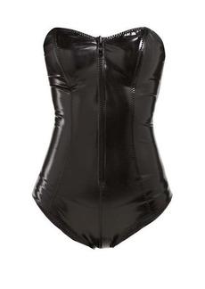 Lisa Marie Fernandez Leigh panelled PVC swimsuit