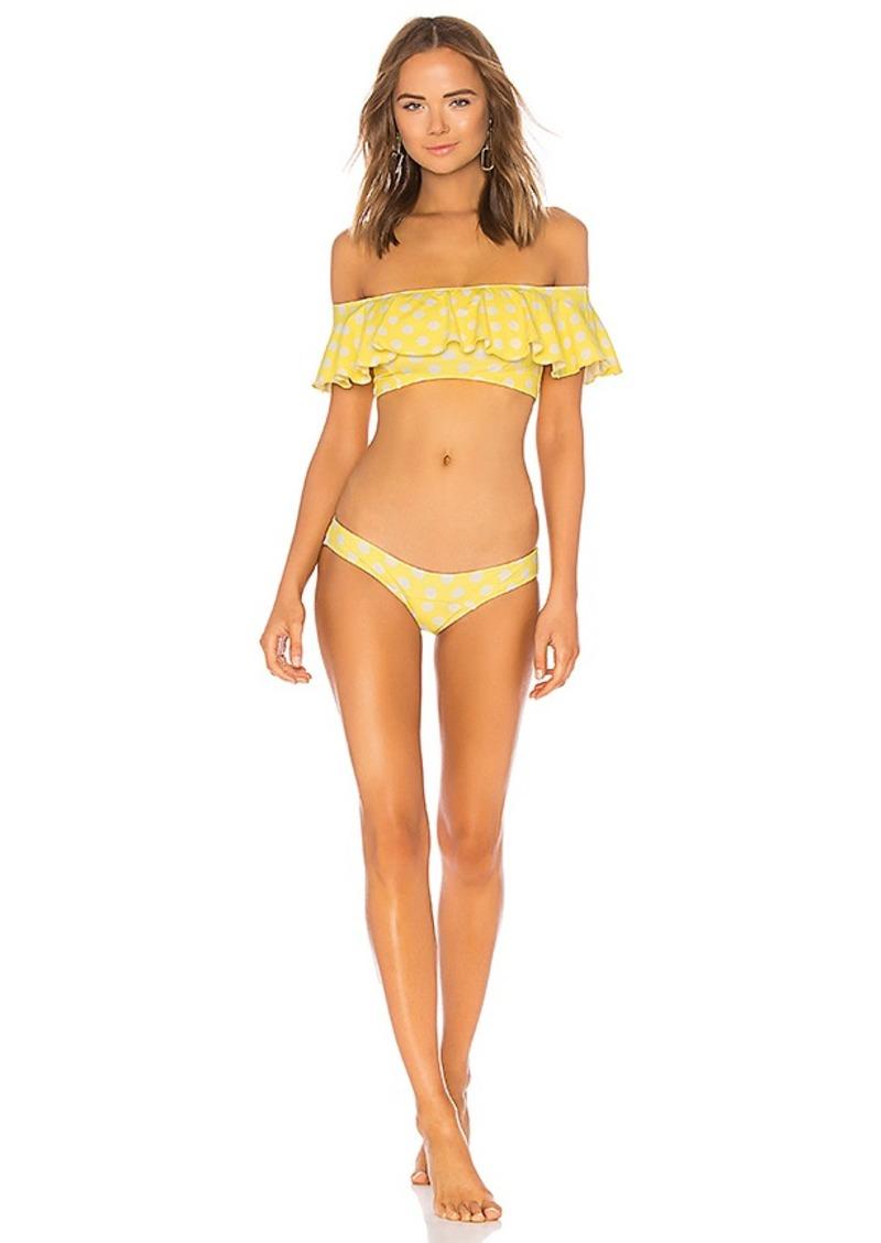 38787a65a168f Lisa Marie Fernandez Lisa Marie Fernandez Mira Flounce Bikini Set ...