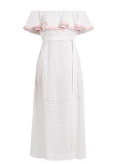 Lisa Marie Fernandez Mira ruffle-trimmed broderie-anglaise cotton dress