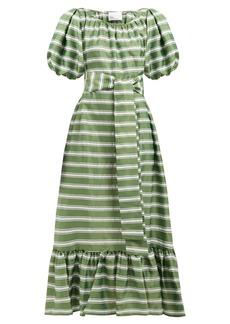 Lisa Marie Fernandez Prairie striped satin dress