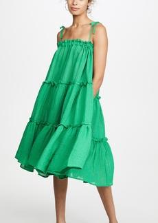 Lisa Marie Fernandez Ruffle Peasant Dress