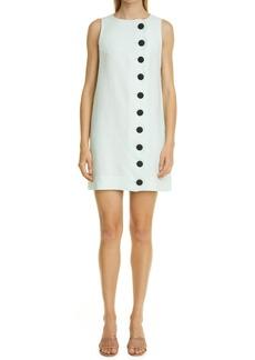 Lisa Marie Fernandez Scallop Button Linen Shift Dress