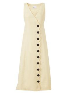 Lisa Marie Fernandez Scallop Linen Maxi Dress