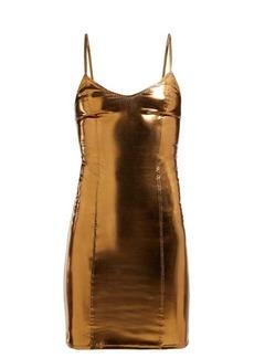 Lisa Marie Fernandez Tank PVC mini dress