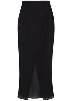 Lisa Marie Fernandez Woman Dree Louise Crinkled Cotton-gauze Wrap Skirt Black
