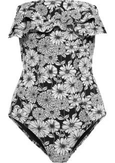 Lisa Marie Fernandez Woman Sabine Strapless Ruffled Swimsuit Black