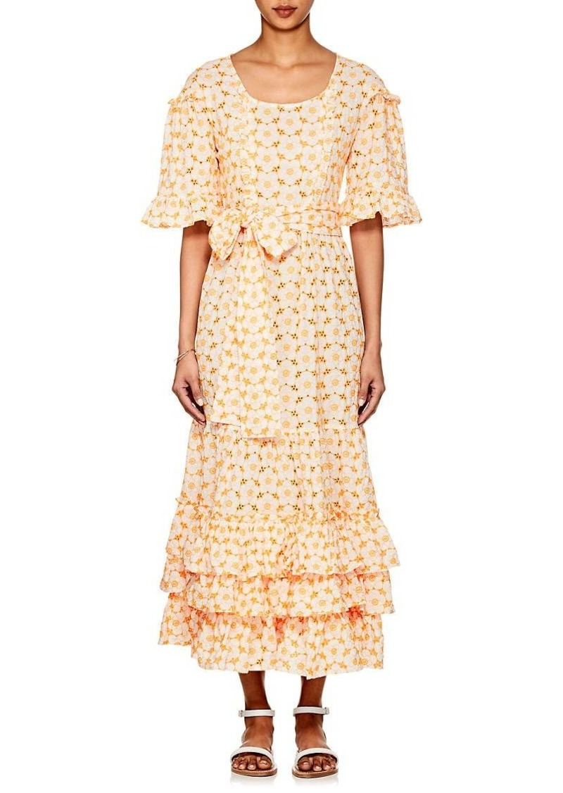 45a37b0dd8 Lisa Marie Fernandez Women s January Embroidered-Eyelet Cotton Dress