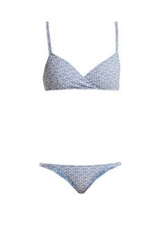Lisa Marie Fernandez Yasmin geometric-pattern bikini